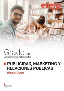 Folleto del Grado en Publicidad, Marketing y Relaciones Públicas en Barcelona width=