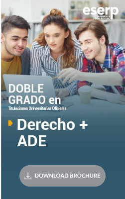 Double Degree in Law and Business Administration and Management in Madrid Brochure