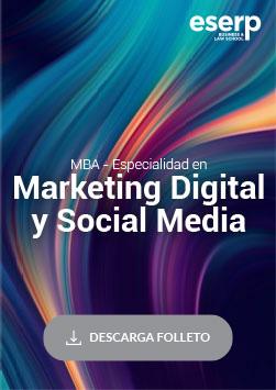 Folleto del MBA - Master in Business Administration Especialidad en Marketing Digital y Social Media en Barcelona